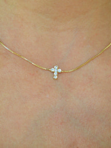 Cross 18K Gold filled Necklace