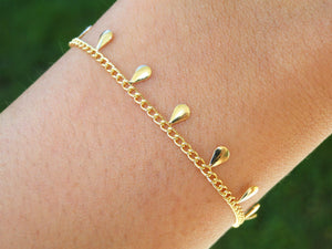 Plain Drops 18K Gold filled Bracelet