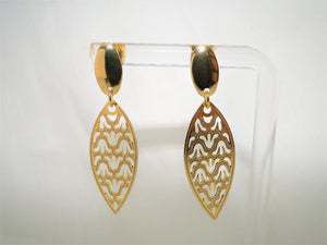 Leaf 18k Gold-plated Earring - Sweetas Trends