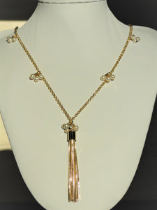 Marie Pearls 18k Gold Plated Long Necklace - Sweetas Trends