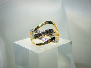 Black Zircon 18k Gold-plated Ring