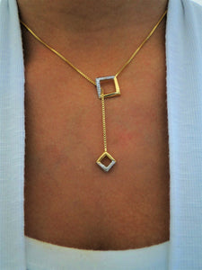 Square Tie 18k Gold-plated Necklace - Sweetas Trends