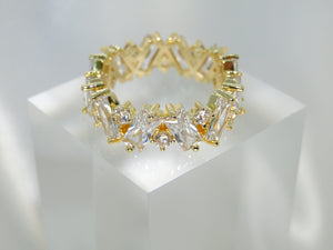 Crystal 18k Gold Plated Ring - Sweetas Trends