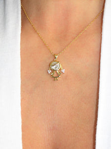 Girl Ava 18K Gold plated Necklace - Sweetas Trends