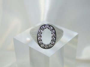 Oval Platinum plated Ring