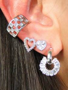 Geometric Platinum plated Ear Cuff (1 Unit) - Sweetas Trends