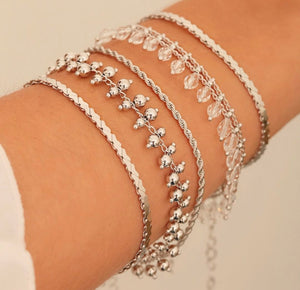 Millie White Rhodium Plated Bracelet - Sweetas Trends