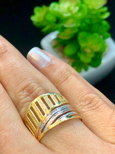 Gold & Silver 18k Gold-plated Ring - Sweetas Trends