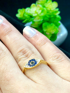 The Evil Eye 18k Gold-plated Ring - Sweetas Trends
