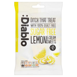 SUGAR FREE LEMON AND CREAM SWEETS - Pack of 5