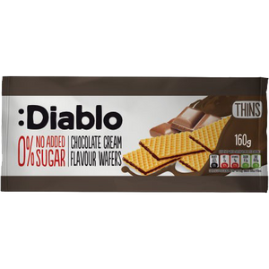 NO ADDED SUGAR CHOCOLATE CREAM FLAVORED WAFERS 160G