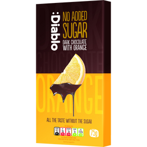 NO ADDED SUGAR DARK CHOCOLATE WITH ORANGE