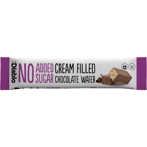 NO ADDED SUGAR CREAM FILLED CHOCOLATE WAFER 30G