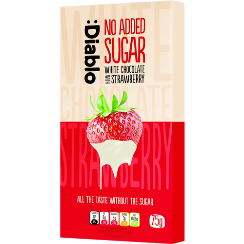NO ADDED SUGAR WHITE CHOCOLATE WITH STRAWBERRY - Pack of 2