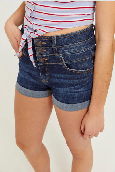 Cuffed High Rise Shorts by Eighty Two