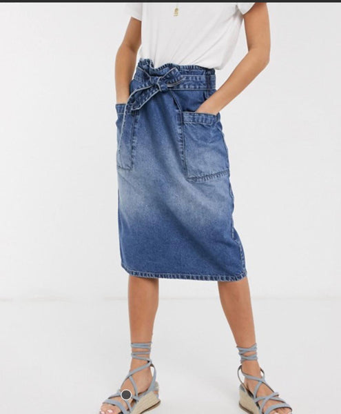 Denim Midi Skirt by Jacqueline De Yong (JDY)