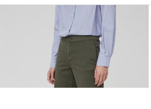 High Waisted Trouser in Stretch Cotton By OVS