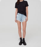 High Waisted Destroyed Denim Short by OVS