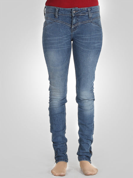 Bottom Zip Skinny Jeans By Original Lemmi