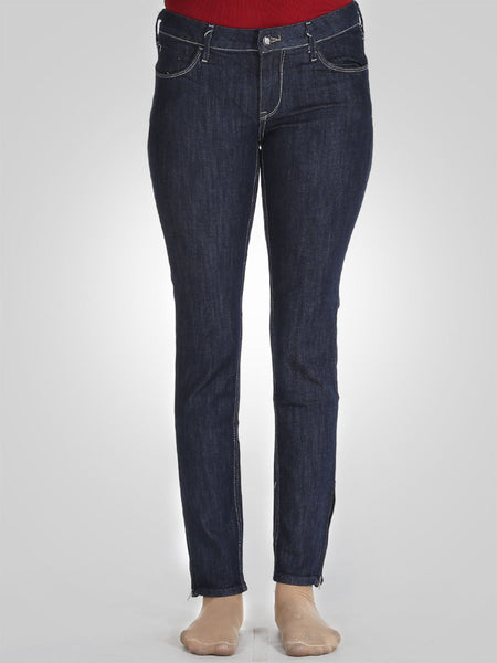 Straight Leg Bottom Zip Jeans By Original Lemmi