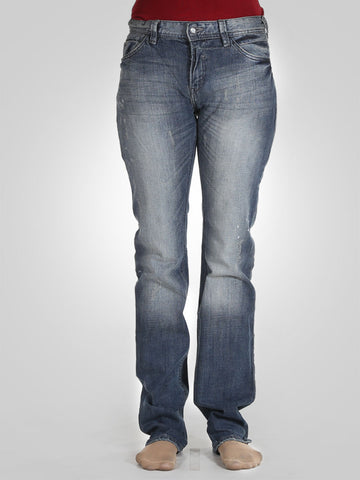 Scratch Straight Leg Jeans By Original Lemmi