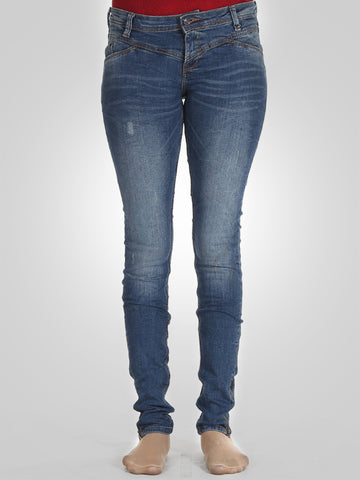 Bottom Zip Skinny Jeans By Lee Cooper