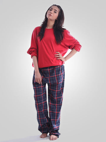 360 Red Cotton Night Wear Suit By Jimmy Rochas