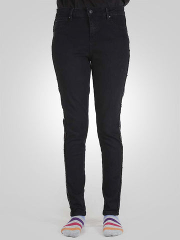 Stripe Sequin Skinny Jeans by Denim & Co