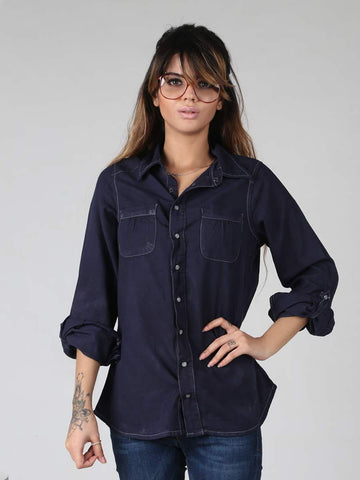 Hi Fashion Denim Shirt By Jimmy Rochas