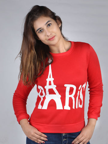 Paris Tower Printed Long Sleeve Sweat Shirt By Jimmy Rochas