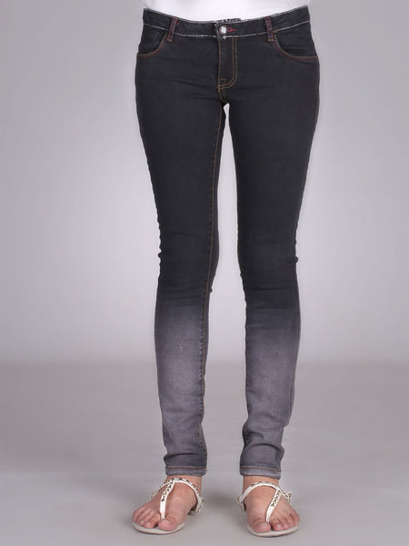 Bottom Faded Skinny Jeans By Original Lemmi