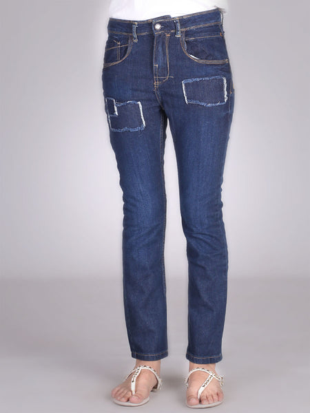 Patch Boyfriend Jeans By Original Lemmi