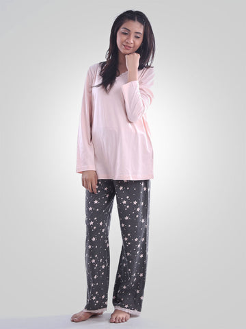 Pink Sugar Cotton Night Wear Suit By Jimmy Rochas