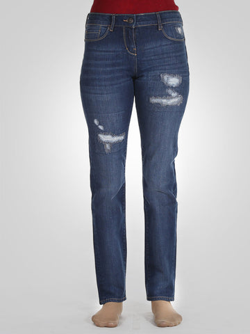Scratch Straight Leg Jeans By Pull & Bear