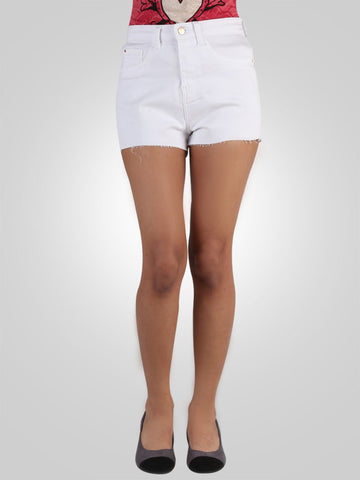 Hollie High Rise Denim Short By River Island