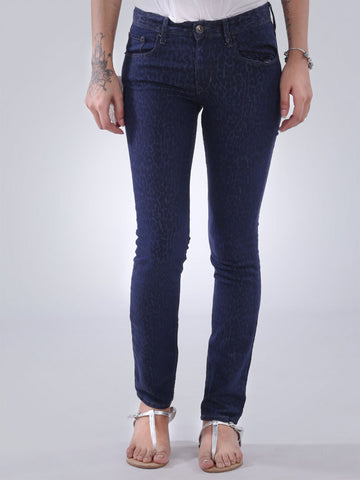 Self Print Skinny Jeans By Splash