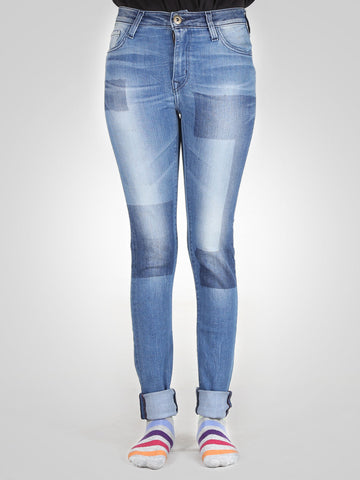 Patched Skinny Jeans By Springfield