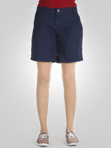 High Waisted Cotton Shorts By Springfield