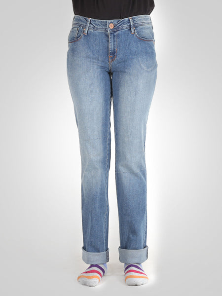 Straight Leg Jeans By Springfield