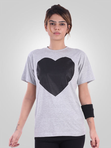 Black Heart Tee Shirt By Jimmy Rochas