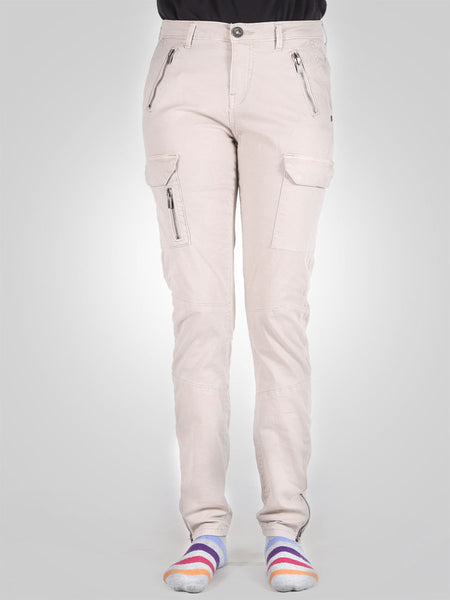 Ankle Zip Skinny Cargo Pant By Time Zone