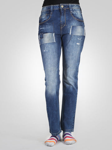 Patch Skinny Jeans By Zara