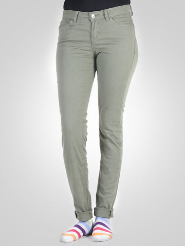 Olive Green Extra Skinny Jona Jeans By Tom Tailor