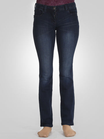 Side Pocket Zip Straight Leg Jeans By Tom Tailor