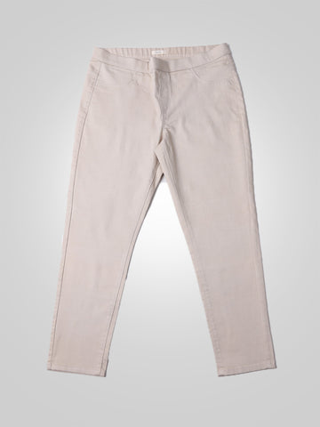 Skinny Beige Jeggings By Sergent Major