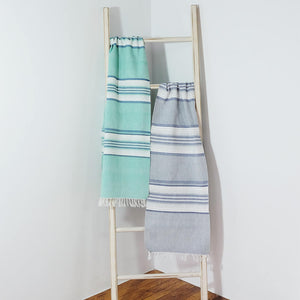 Teal with Blue Stripes Runner