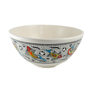 Rainbow Fish Large Deep Bowl