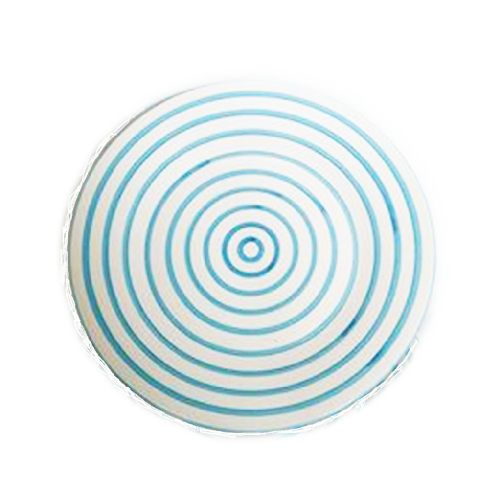 Turquoise Stripe Dinner Plate