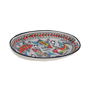 Rainbow Fish Med Oval Platter