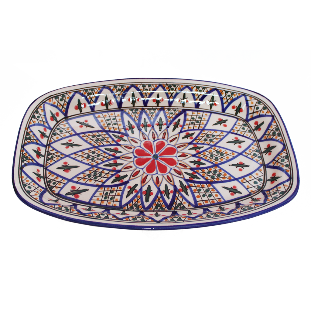 Tabarka rectangle platter